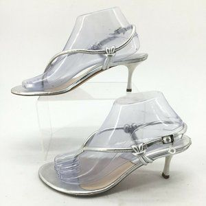 Dior Womens 38 Slingback Thong Dress Heels Stilett